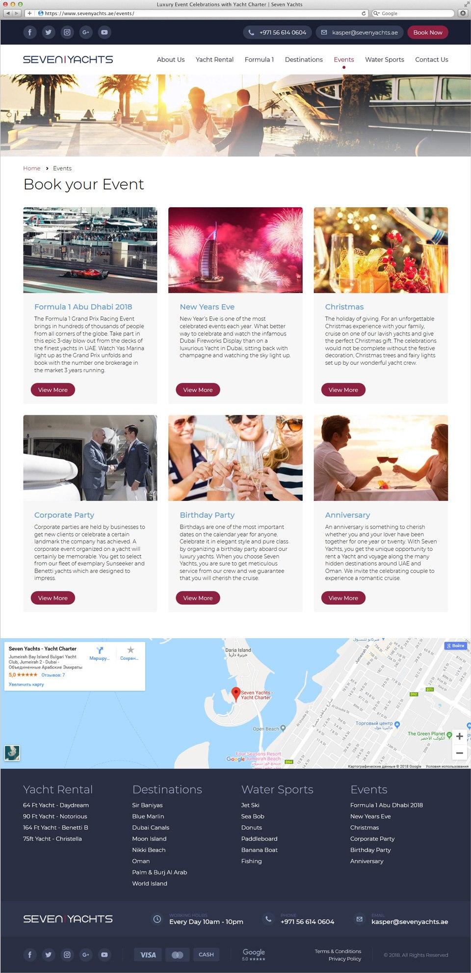 Seven Yachts | Beontop Portfolio Events
