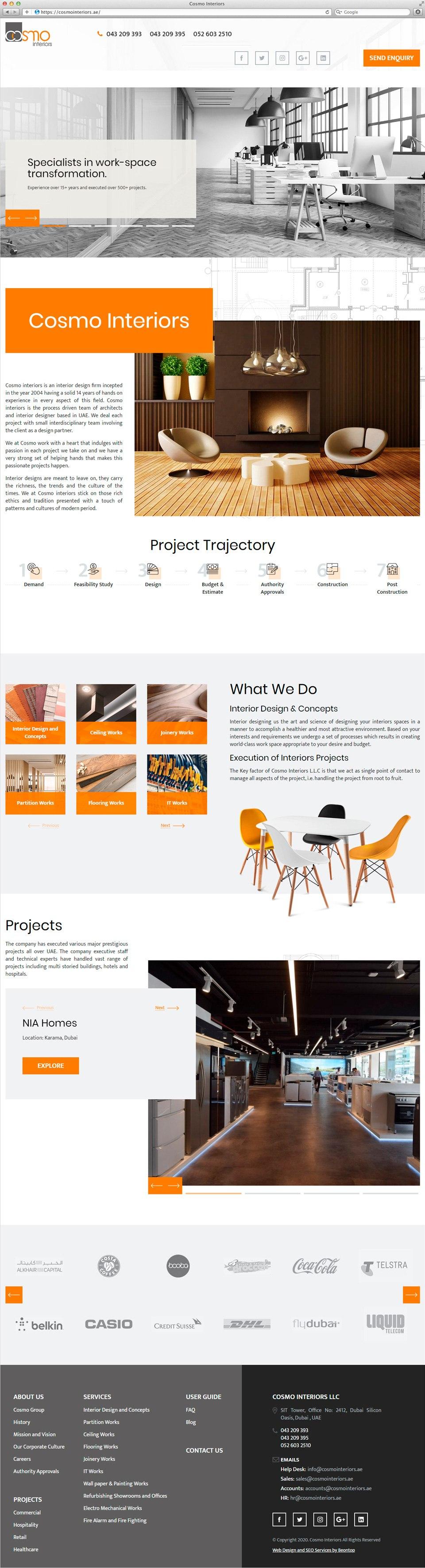 Cosmo Interiors | Beontop Portfolio Homepage