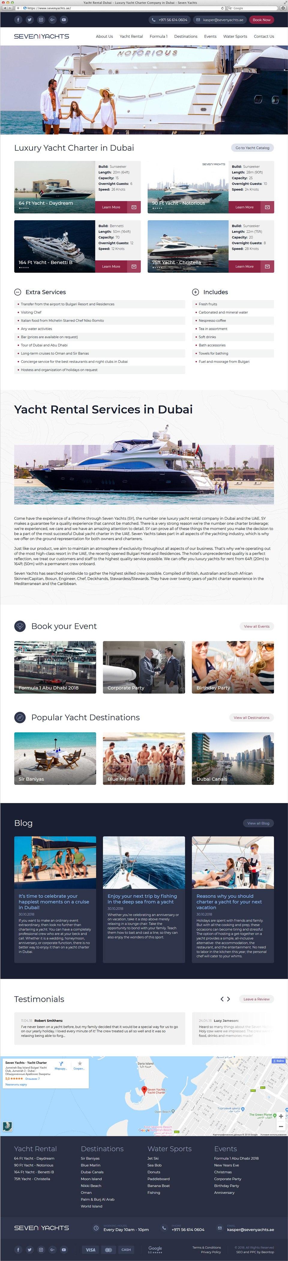 Seven Yachts | Beontop Portfolio Homepage