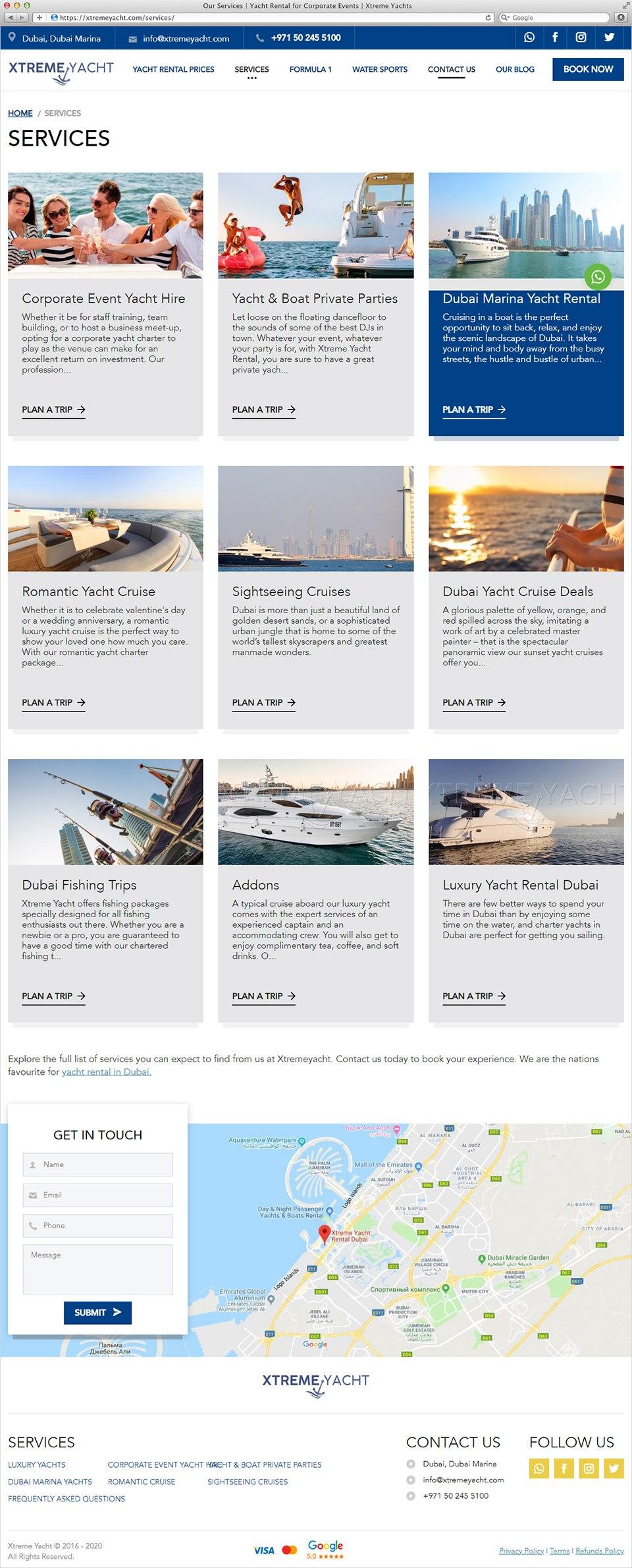 Xtreme Yacht | Beontop Portfolio Service Catalog