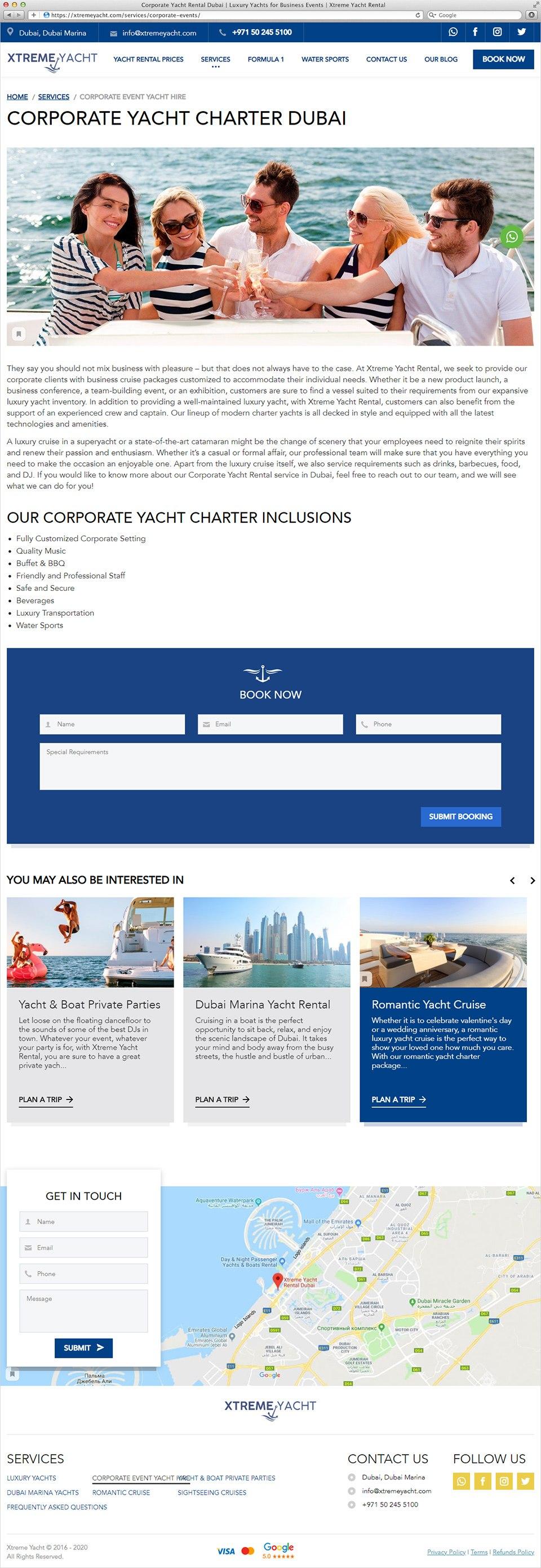 Xtreme Yacht | Beontop Portfolio Service Page