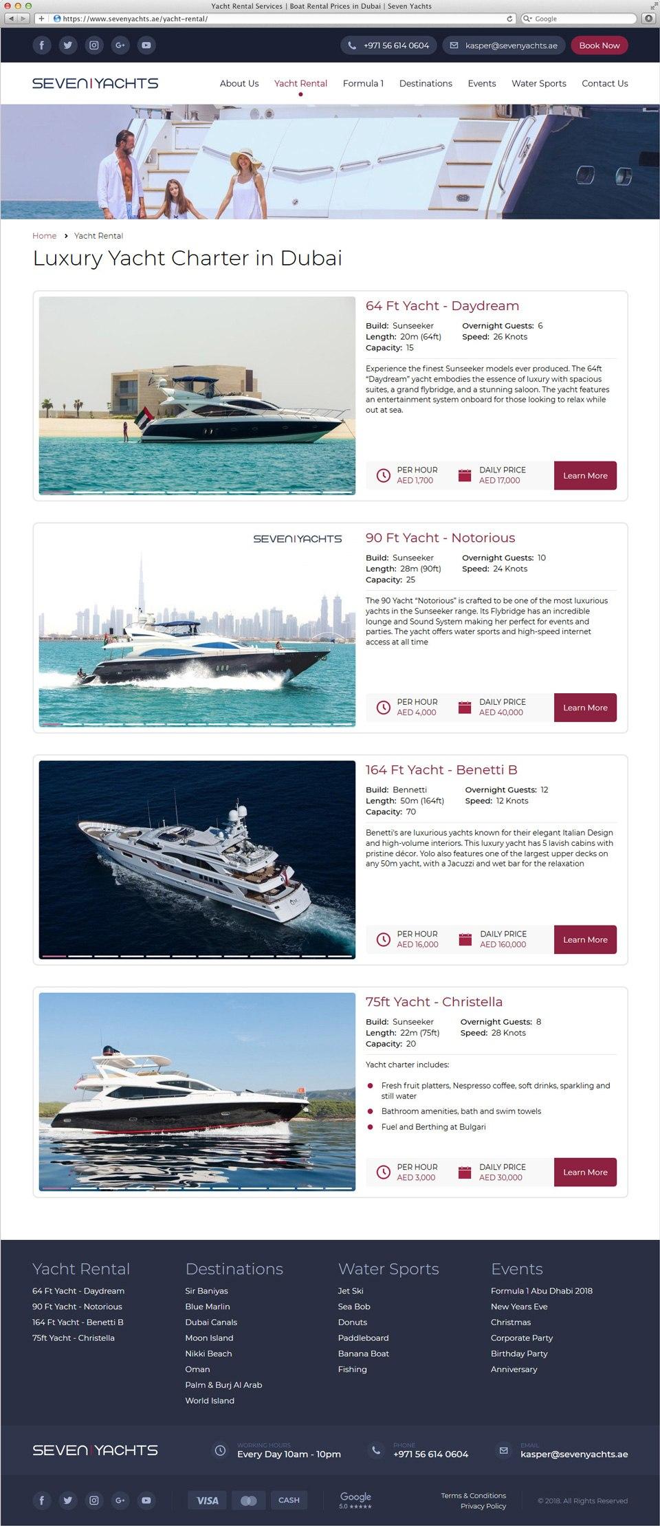 Seven Yachts | Beontop Portfolio Yacht Rental